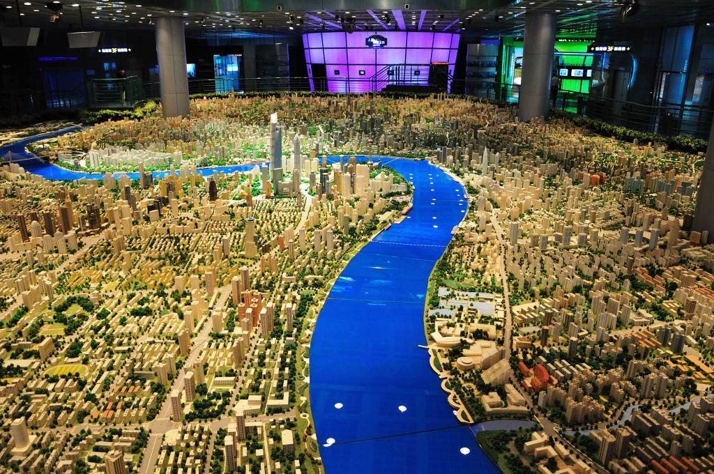 Макет городской застройки Шанхая