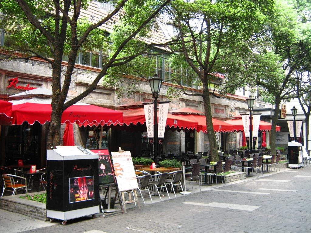 Xintiandi пешеходная торгово-развлекательная зона в центре Шанхая