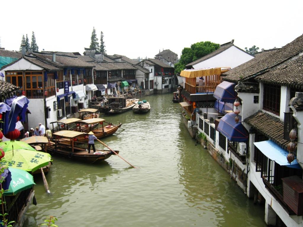Живописный Zhujiajiao River Town