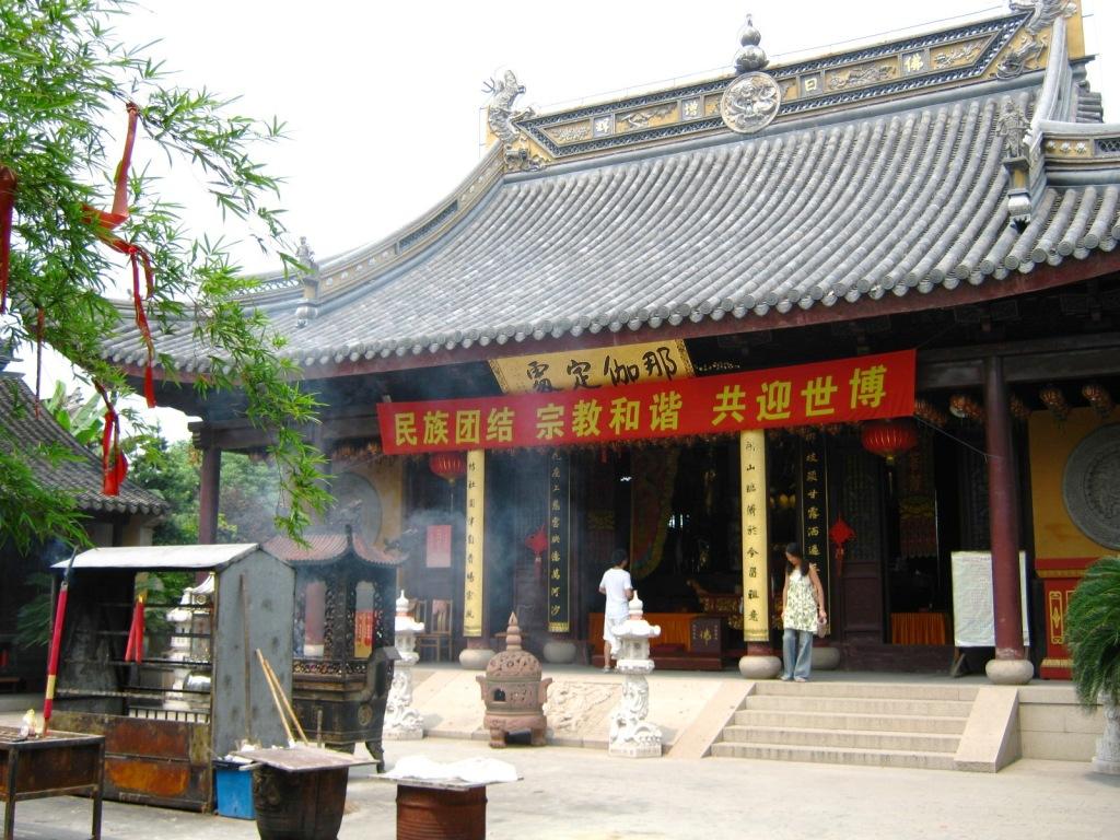 Буддийский храм в Zhujiajiao River Town