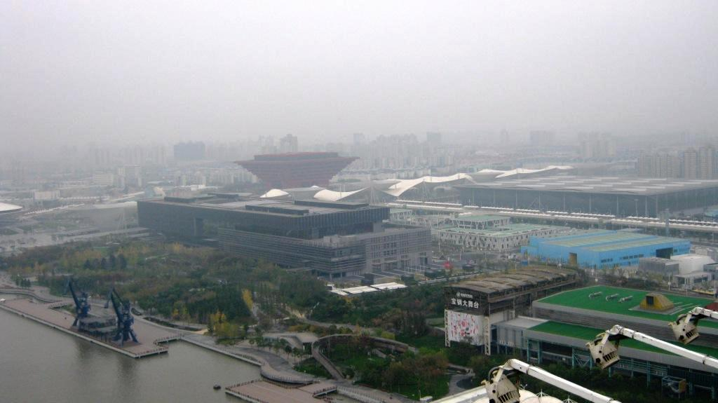 Вид на территорию ЭКСПО-2010 с моста Лупу Шанхай