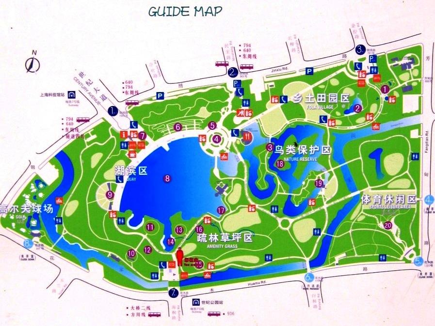 карта Century Park Шанхай